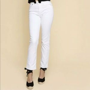 Rouje Sabina Jeans White French Size 34
